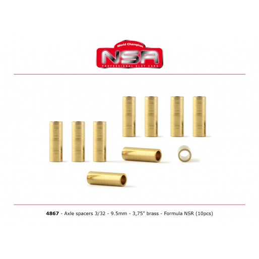 "NSR4867 NSR 3/32"" 9.5mm-3.75"" Brass, 10/pk"