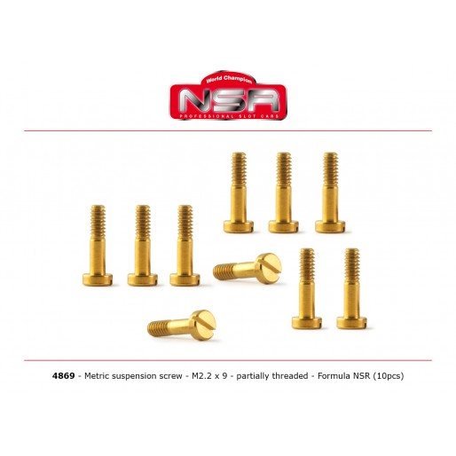 NSR4869 NSR Metric Suspension Screw M2.2x9mm, partially threaded