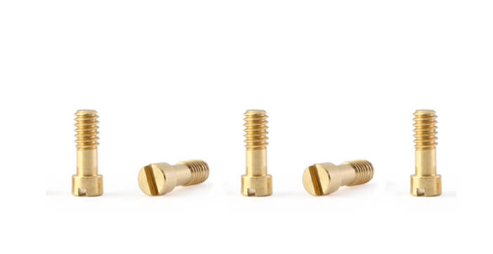 PCH07 Policar F1 Metric Screws, M2 x 5mm Brass, 5/pk