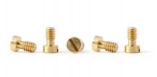 PCH05 Policar F1 Metric Screws, M2.2 x 3.8mm Brass, 5/pk