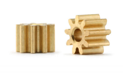 PPI429O15 Policar 9 Tooth 4.2mm Diameter Brass Pinion