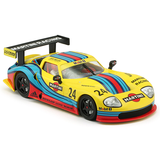 RevoSlot RS0074 Marcos LM600 GT2, No.24, Martini Yellow