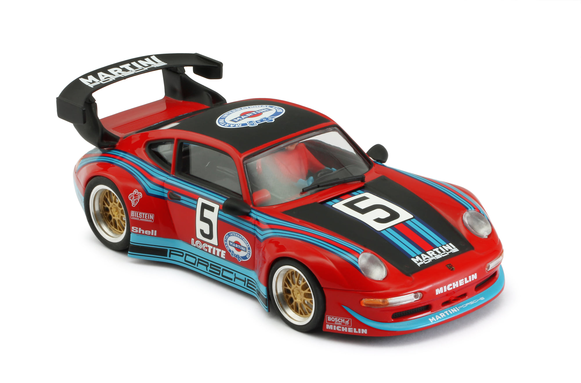 RevoSlot RS0085 Porsche 911 GT2 Martini No.5, Red