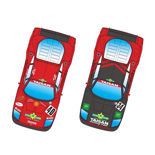 RevoSlot RS0099 Ferrari F40 Twin Pack Taisan No.40 and No.34