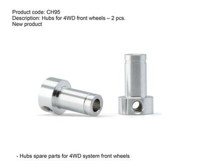 SICH95 Slot.it Hubs for 4WD Front Wheels, 2/pk