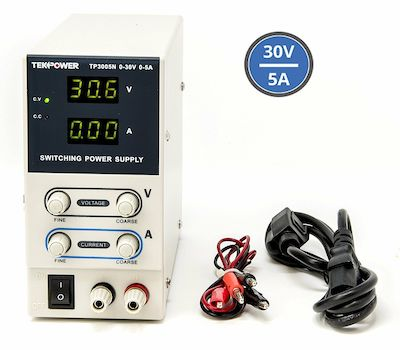 TP3005N TekPower Regulated DC Variable Power Supply 0-30V, 0-5A