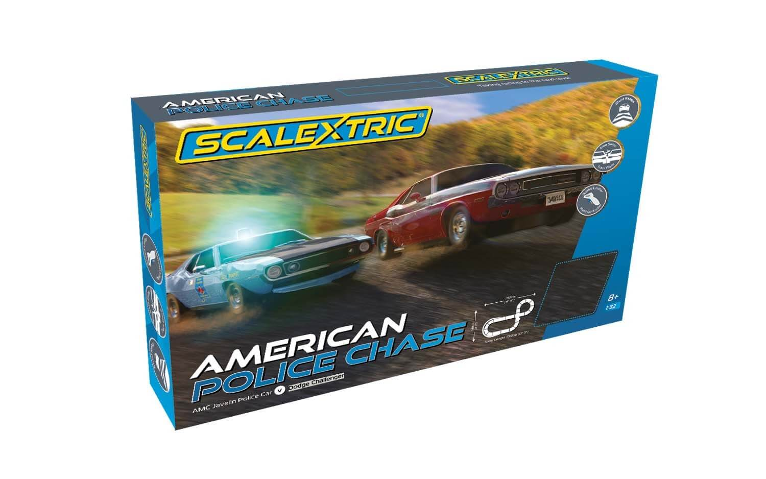 C1405T Scalextric American Police Chase Set