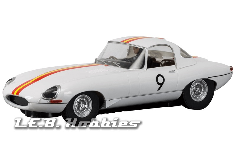 C3890 Scalextric Jaguar E Type 1965 Bathurst Bob Jane, No.9