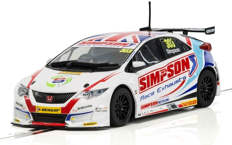 C3915 Scalextric Honda Civic Type R NGTC, BTCC Matt Simpson