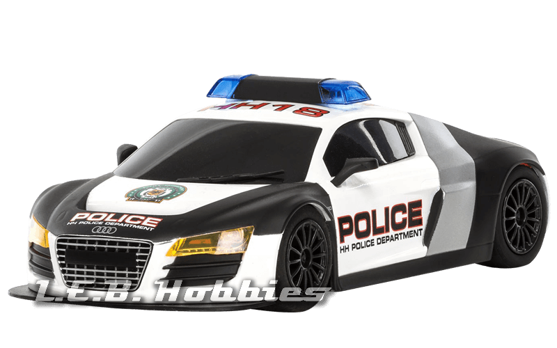 C3932 Scalextric Audi R8 Police Car Black & White