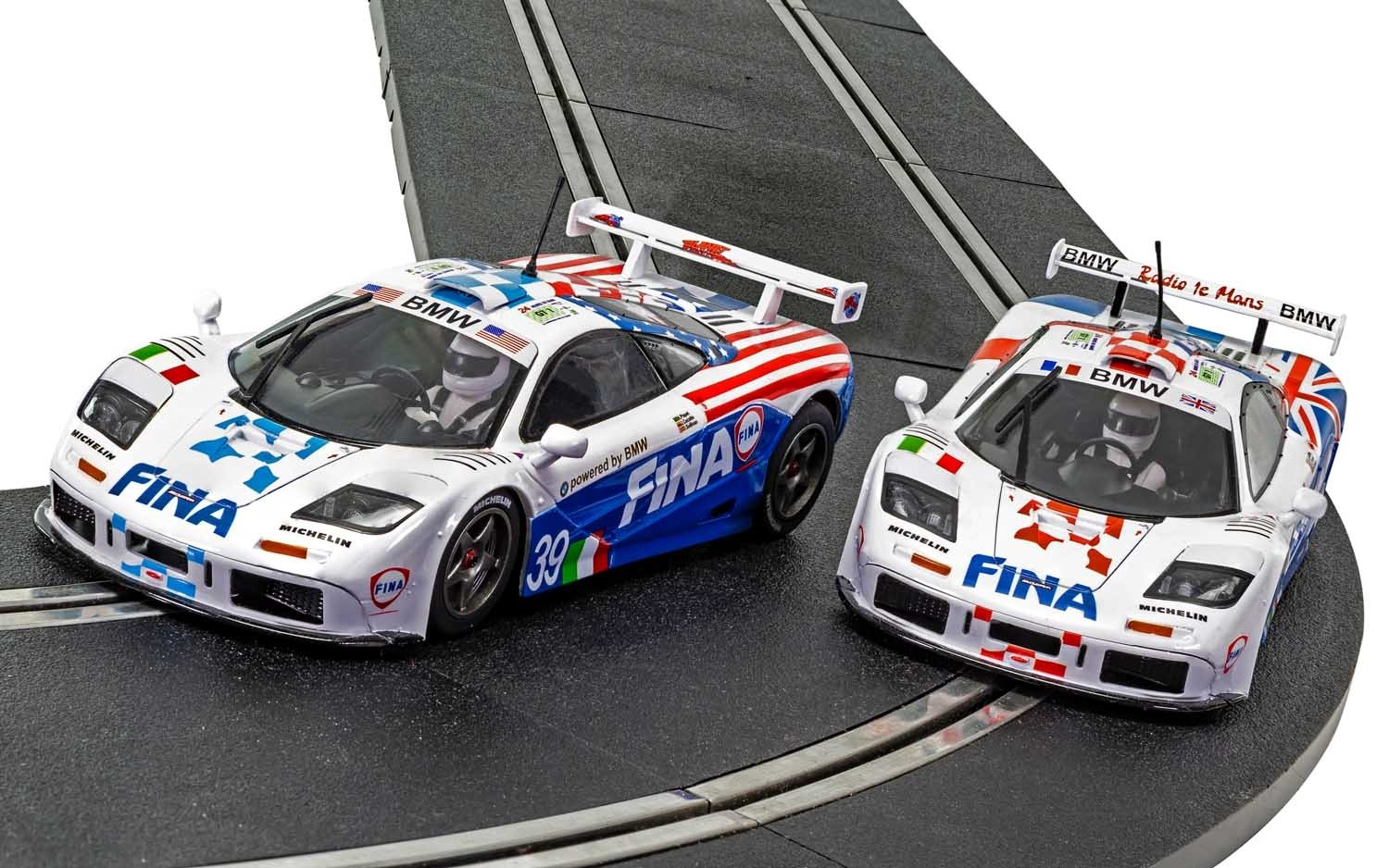 C4012A Scalextric McLaren F1 GTR, LeMans 1996 Twin Pack