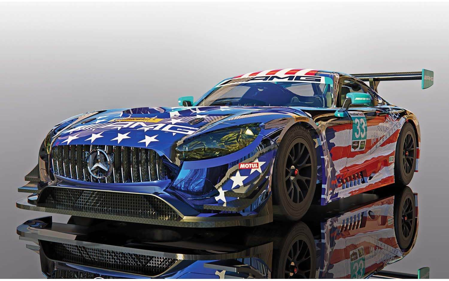 C4023 Scalextric Mercedes AMG GT3, Riley Motorsports Team