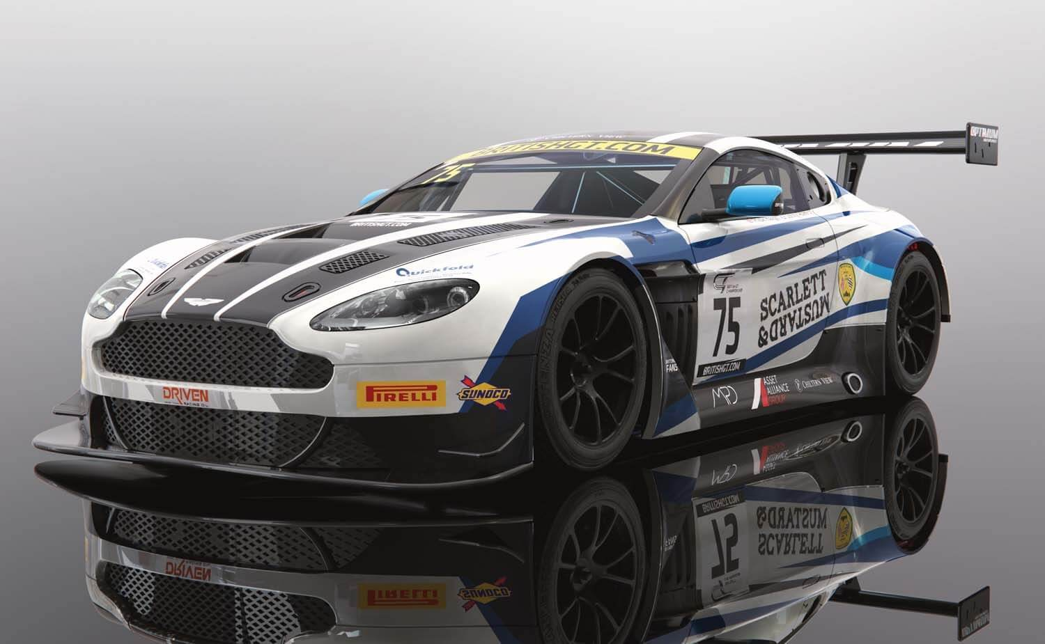 C4027 Scalextric Aston Martin GT3, British GT 2018, Flick Haigh