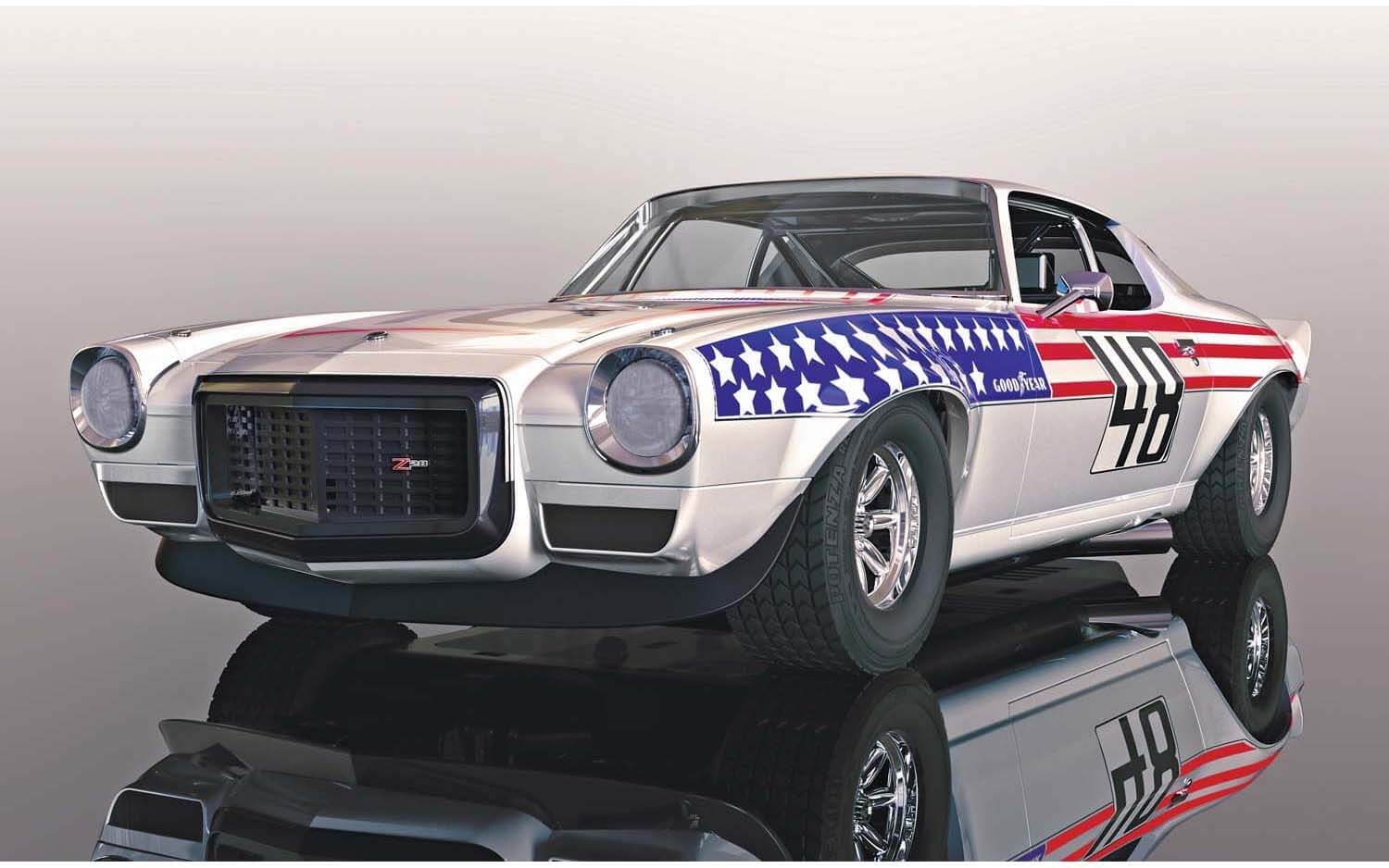 C4043 Scalextric Chevrolet Camaro, Stars N Stripes