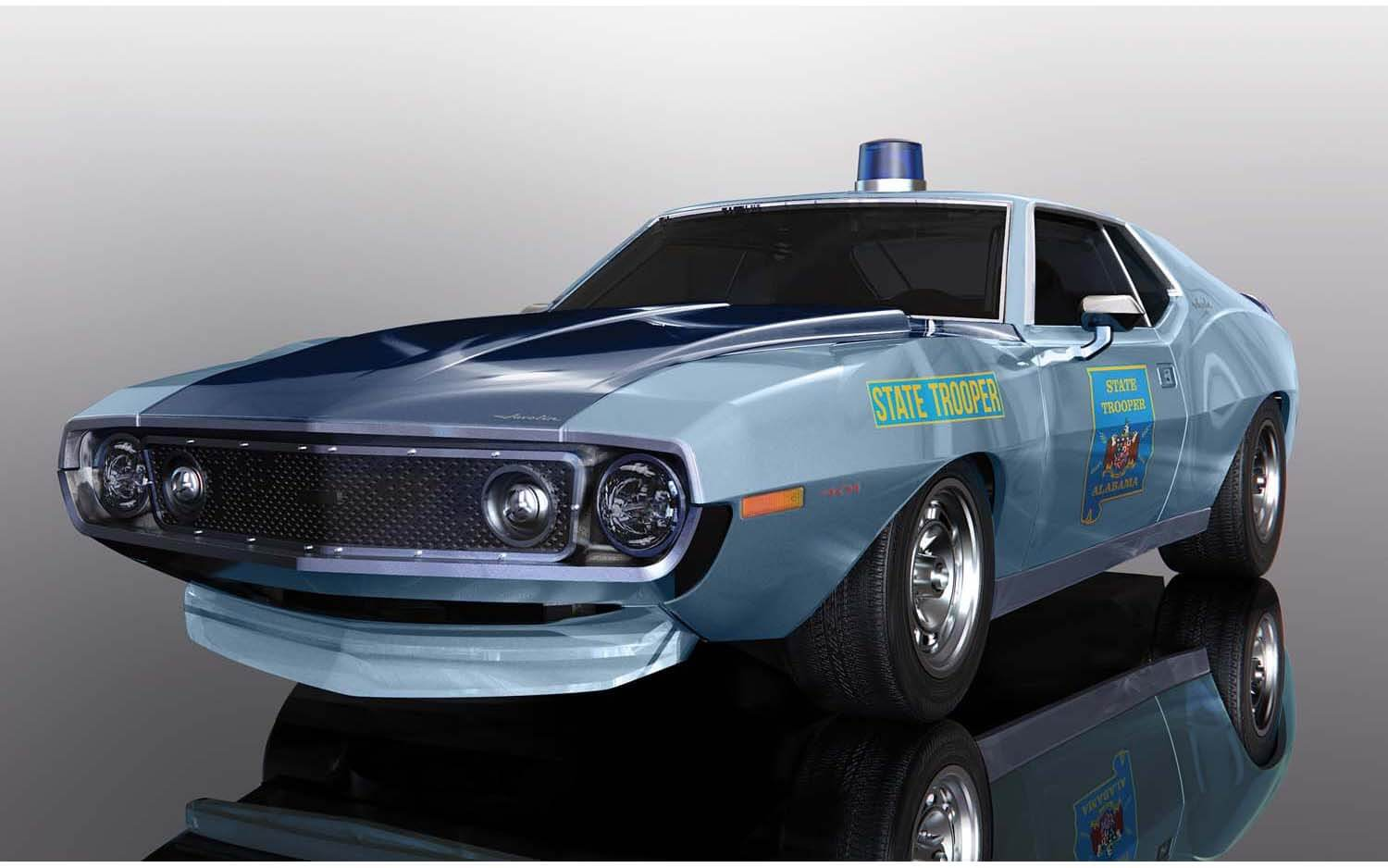 C4058 Scalextric AMC Javelin Alabama State Trooper