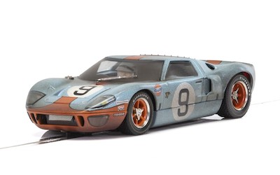C4104 Scalextric Ford GT40 Gulf, No.9 - Weathered Special