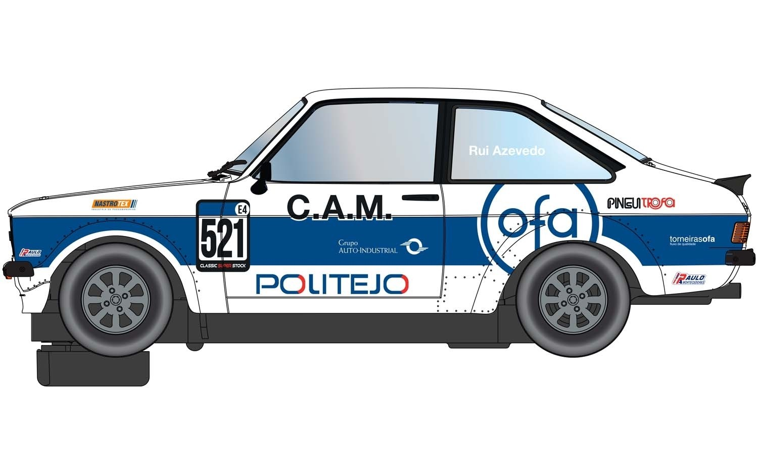 C4150 Scalextric Ford Escort MK2 RS2000, Gulf Edition