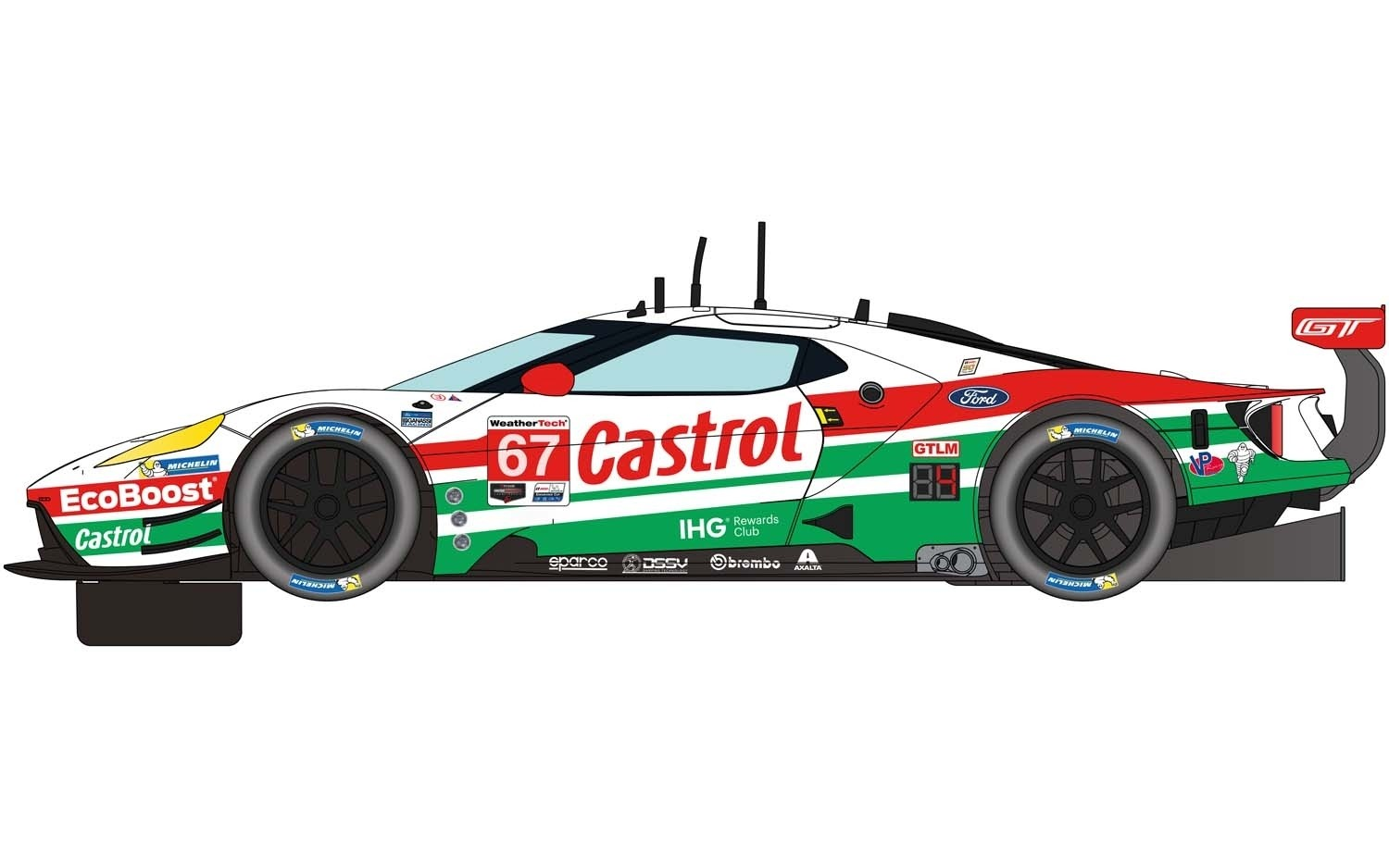 C4151 Scalextric Ford GT GTE, Daytona 2019, No.67