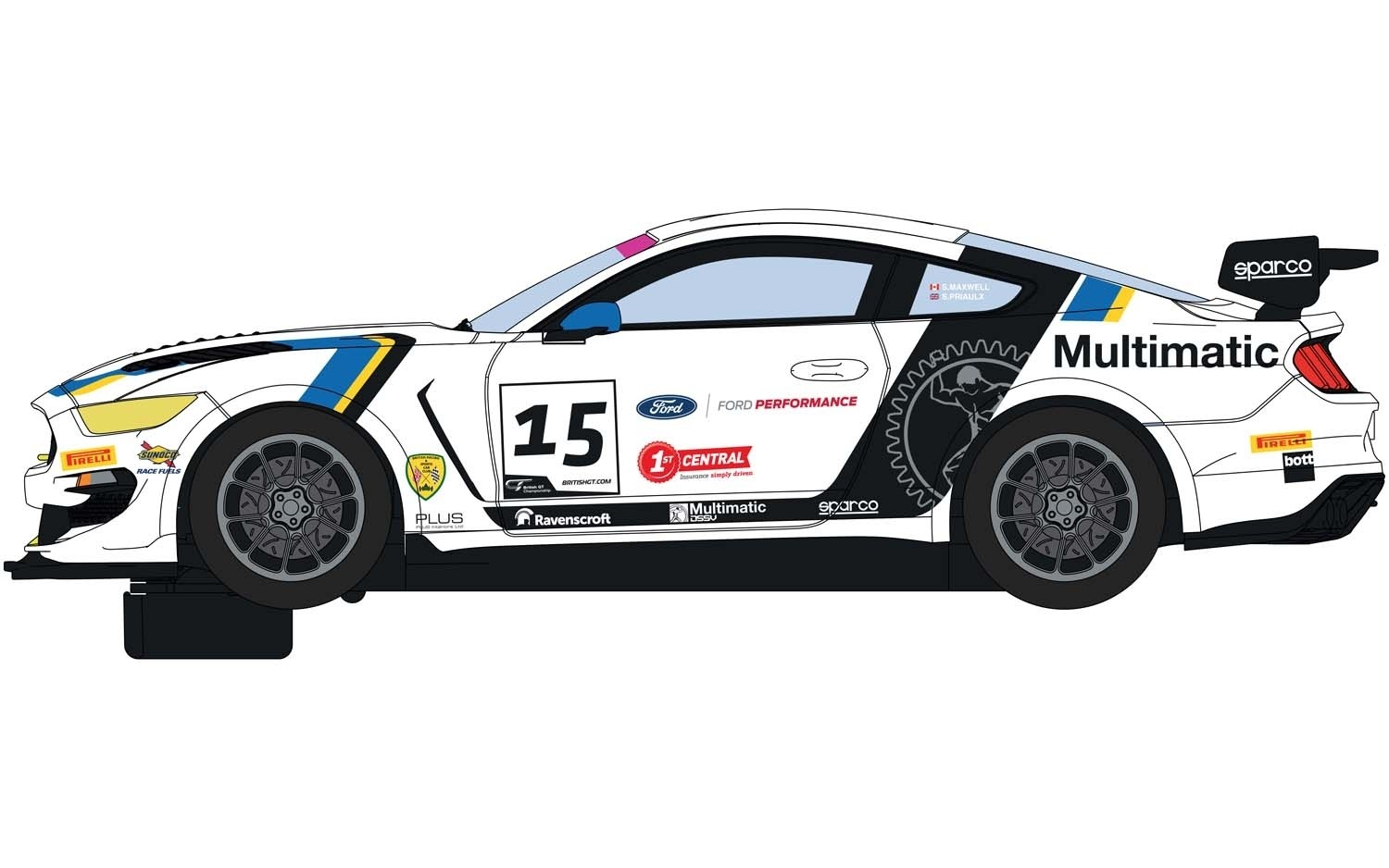 C4173 Scalextric Ford Mustang GT4, British GT 2019, Multimatic