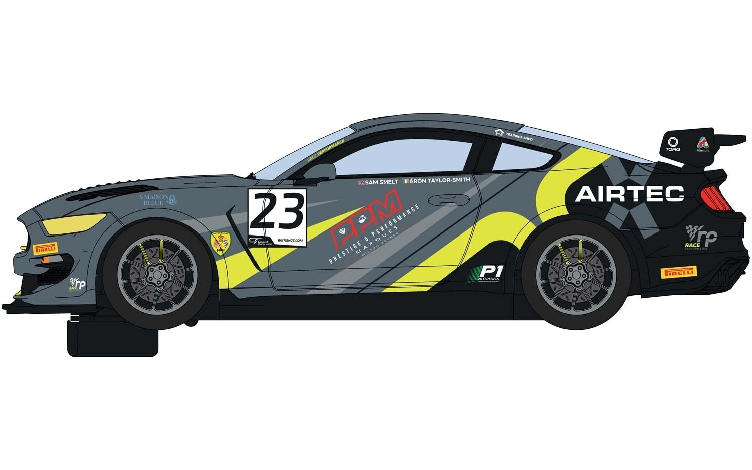 Scalextric C4182 Ford Mustang GT4 British GT 2019 RACE Performan
