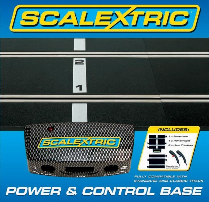 C8530 Scalextric Power Base plus 2x Hand Controllers