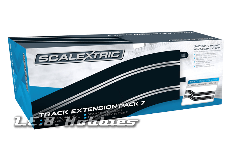 C8556 Scalextric Extension Pack 7 - Straights & Radius 3 Curve