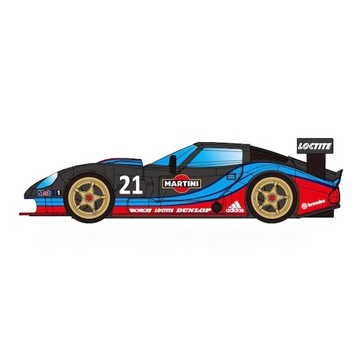 RevoSlot RS0072 Marcos LM600 GT2, No.21, Martini Black