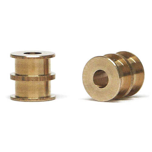 SIPA27 Slot.it CNC Axle Bushings, Double Sided, Bronze, 4/pk