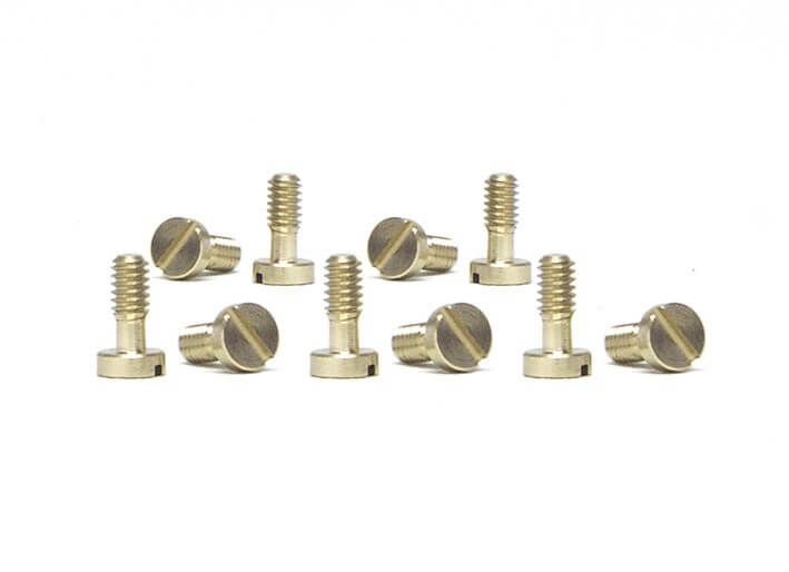 SICH54 Slot.it Motor Pod Screws, 2.2x5.3mm, Brass, Large Head