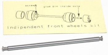 SIPA39 Slot.it Axle Kit, Independent Front Wheels Axle, 1/pk