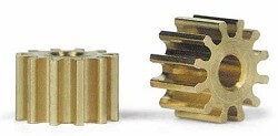 SIPS12 Slot.it Pinion, 12T, Sidewinder, 6.5mm/2mm, Brass, 2/pk