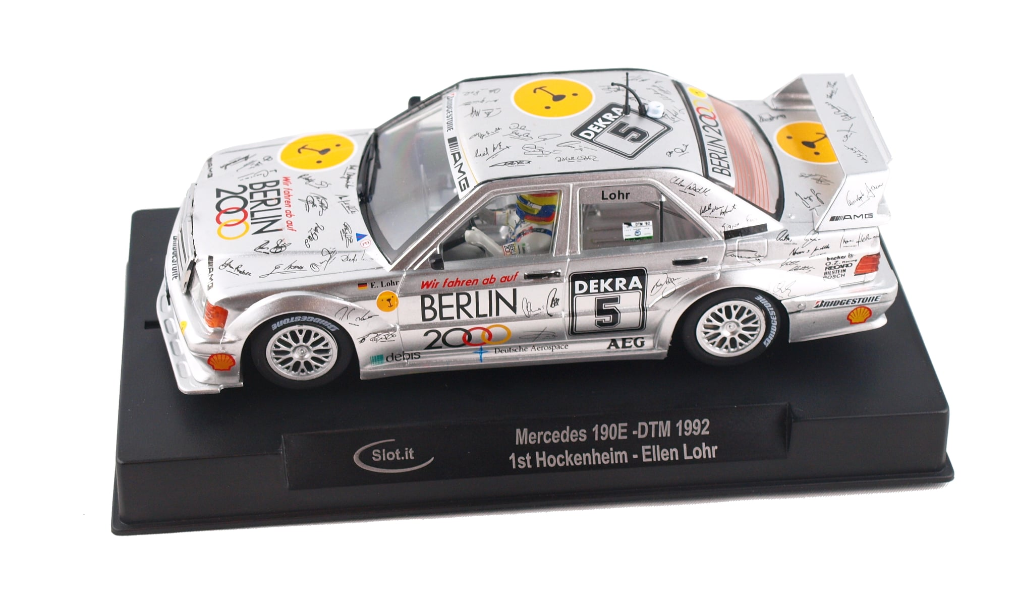 SICA44C Slot.it Mercedes 190E No.6 DTM 1st Hockenheim 1992